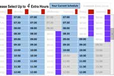 Intelligent Agent Scheduling Screen – Extra Hours
